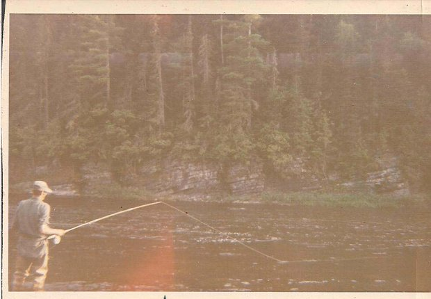 Father fishing the Tobique River