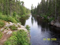 Looking down river from the cabin, Little Southwest Miramichi